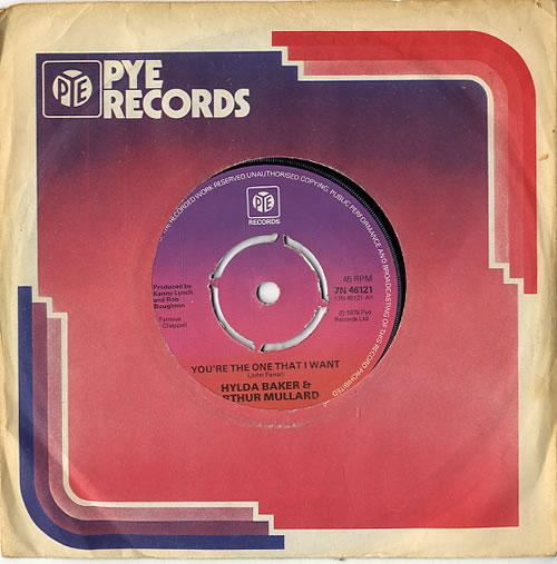 "Hylda Baker & Arthur Mullard You're The One That I Want - 4pr 7"" vinyl single (7 inch record) UK HZP07YO611321"