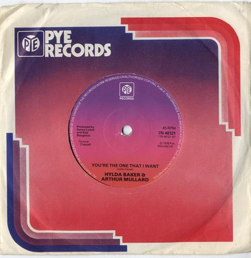 "Hylda Baker & Arthur Mullard You're The One That I Want - Solid 7"" vinyl single (7 inch record) UK HZP07YO614964"