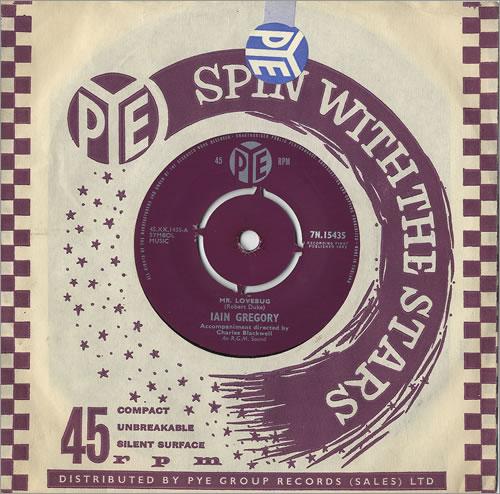 "Iain Gregory Mr. Lovebug 7"" vinyl single (7 inch record) UK IGQ07MR486841"