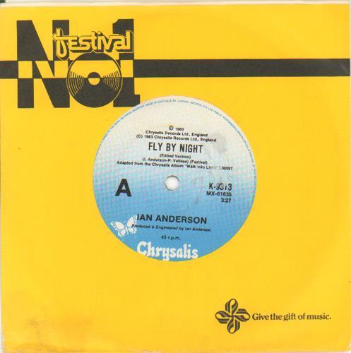 "Ian Anderson Fly By Night 7"" vinyl single (7 inch record) Australian IAD07FL654281"