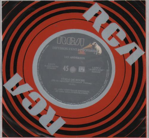 """Ian Anderson Vuelo De Noche 7"""" vinyl single (7 inch record) Argentinean IAD07VU651337"""