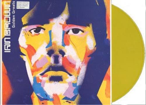 Ian Brown Golden Greats - Gold (yellow?) Vinyl + Poster vinyl LP album (LP record) UK IBRLPGO147048