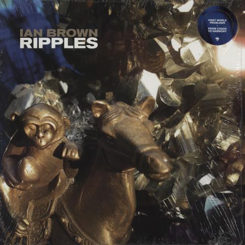 Ian Brown Ripples - White Vinyl vinyl LP album (LP record) UK IBRLPRI754777