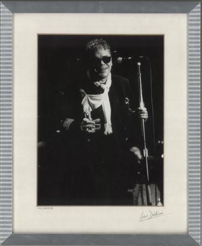 Ian Dury Black & White Framed Photograph - signed by Photographer photograph UK INDPHBL733726
