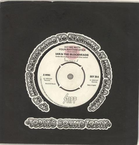 "Ian Dury Hit Me With Your Rhythm Stick 7"" vinyl single (7 inch record) UK IND07HI689032"