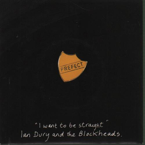 """Ian Dury I Want To Be Straight - Solid + Prefect Sleeve 7"""" vinyl single (7 inch record) UK IND07IW191958"""