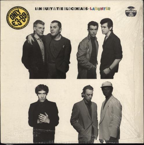 Ian Dury Laughter - Stickered Picture Sleeve vinyl LP album (LP record) UK INDLPLA686505