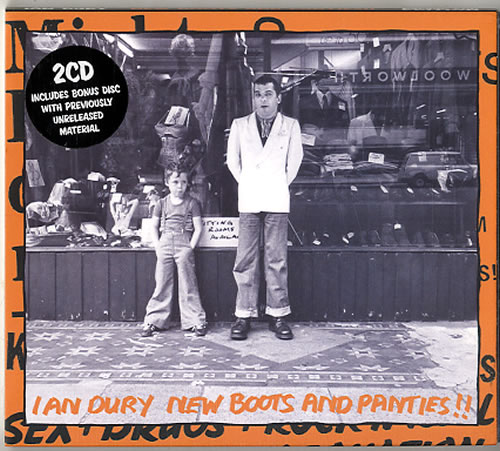 Ian Dury New Boots And Panties!! 2 CD album set (Double CD) UK IND2CNE629155