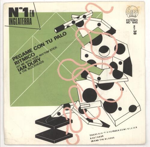 """Ian Dury Pegame Con Tu Palo Ritmico 7"""" vinyl single (7 inch record) Spanish IND07PE731673"""