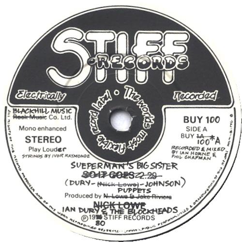 """Ian Dury Sueperman's Big Sister 7"""" vinyl single (7 inch record) UK IND07SU448024"""