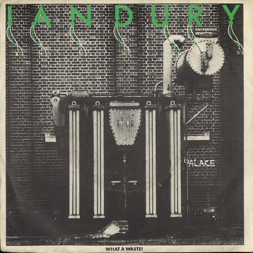 "Ian Dury Wake Up - Yellow Vinyl 7"" vinyl single (7 inch record) Belgian IND07WA554256"