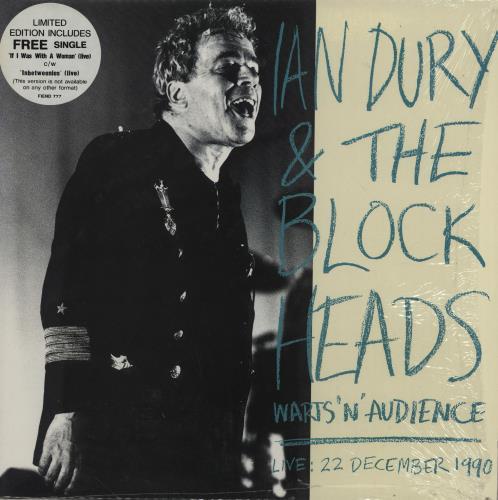 "Ian Dury Warts 'N' Audience + 7"" single vinyl LP album (LP record) UK INDLPWA629267"