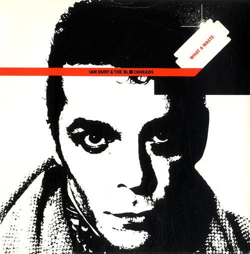 """Ian Dury What A Waste 7"""" vinyl single (7 inch record) UK IND07WH189417"""