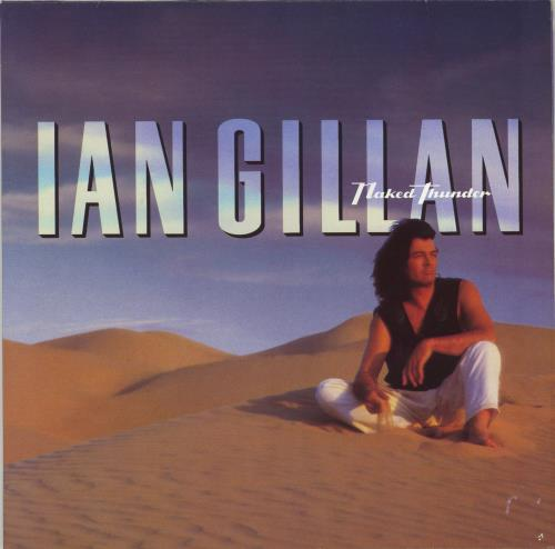 Ian Gillan Naked Thunder + Lyric inner/Misprint vinyl LP album (LP record) German GILLPNA767445