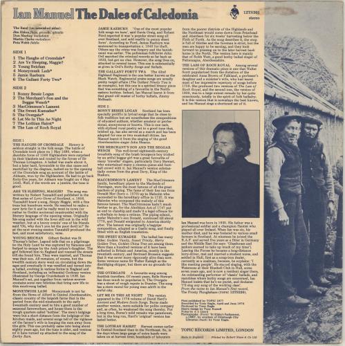 Ian Manuel The Dales Of Caledonia vinyl LP album (LP record) UK QHVLPTH694762