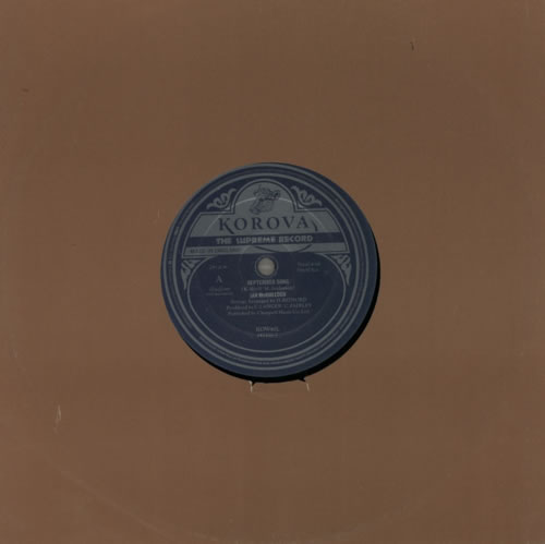 "Ian McCulloch September Song 10"" vinyl single (10"" record) UK IAN10SE115697"