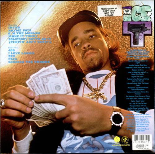 Ice T Rhyme Pays German Vinyl Lp Album Lp Record 519065