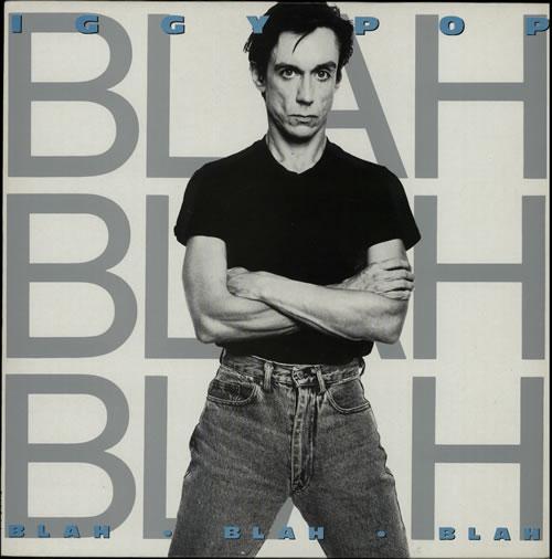Iggy Pop Blah Blah Blah + ticket stub vinyl LP album (LP record) UK IGGLPBL628831