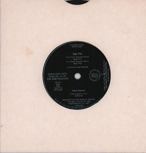 "Iggy Pop Butt Town / L.A. Blues - flexi 7"" vinyl single (7 inch record) UK IGG07BU636400"