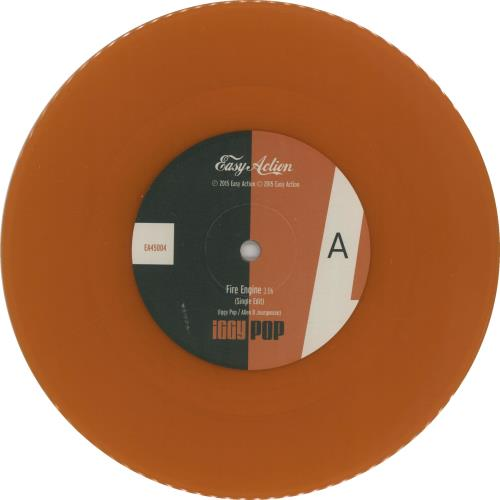 "Iggy Pop Fire Engine - RSD 16 - Orange Vinyl 7"" vinyl single (7 inch record) UK IGG07FI651028"