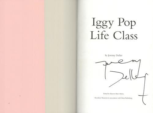 Iggy Pop Life Class - Autographed book US IGGBKLI716030