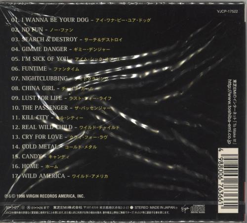 Iggy Pop Nude & Rude - The Best Of CD album (CDLP) Japanese IGGCDNU706379