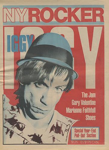 Iggy Pop NY Rocker magazine US IGGMANY402188