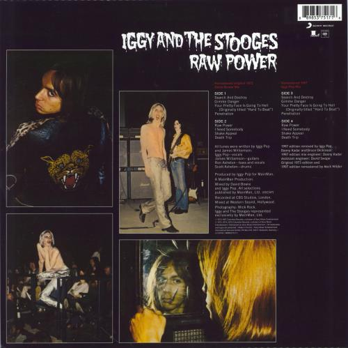 Iggy Pop Raw Power - 180gram Vinyl 2-LP vinyl record set (Double Album) UK IGG2LRA775625
