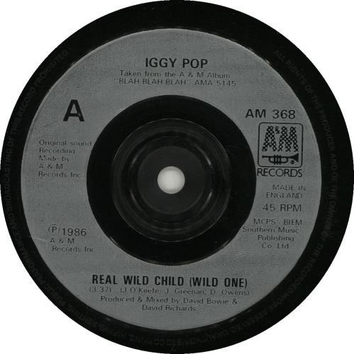 "Iggy Pop Real Wild Child (Wild One) 7"" vinyl single (7 inch record) UK IGG07RE688179"