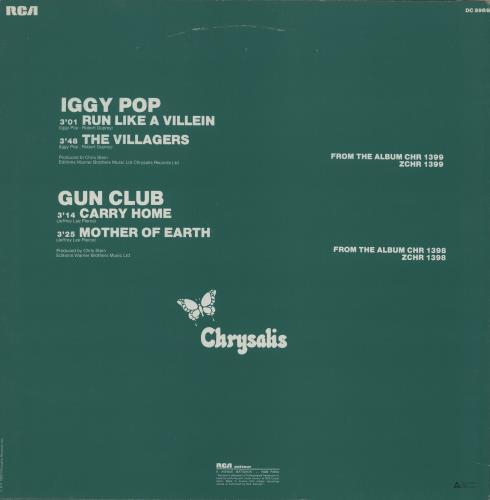 "Iggy Pop Run Like A Villein 12"" vinyl single (12 inch record / Maxi-single) French IGG12RU280970"