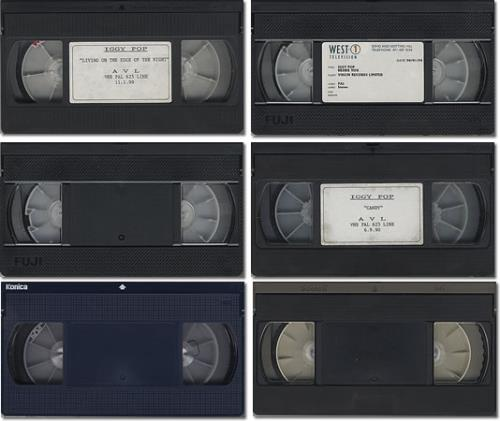 Iggy Pop Set Of 6 Promotional Videos video (VHS or PAL or NTSC) UK IGGVISE401396