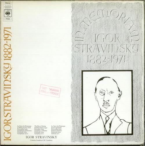 Igor Stravinsky In Memoriam - Test Pressing box set UK S0UBXIN535921