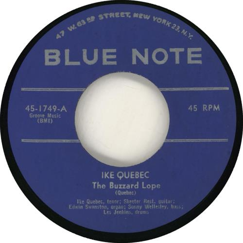 """Ike Quebec The Buzzard Lope 7"""" vinyl single (7 inch record) US IKQ07TH714235"""
