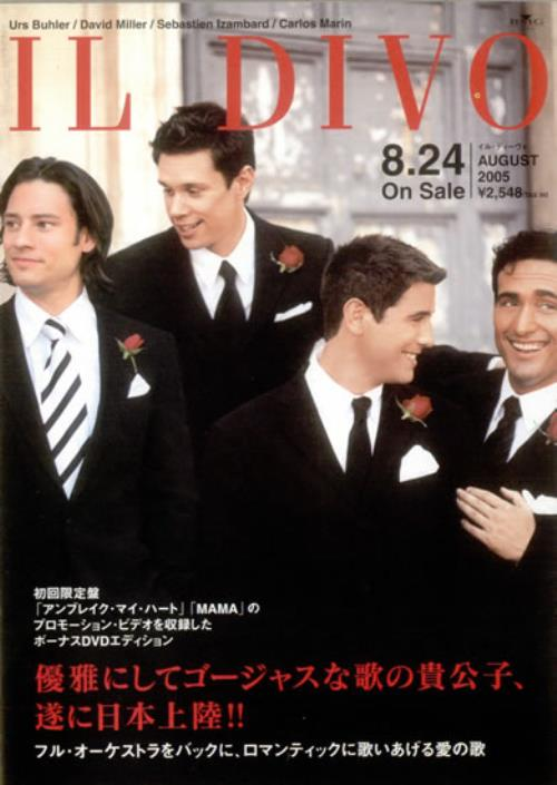 Il Divo Il Divo handbill Japanese IDIHBIL533693