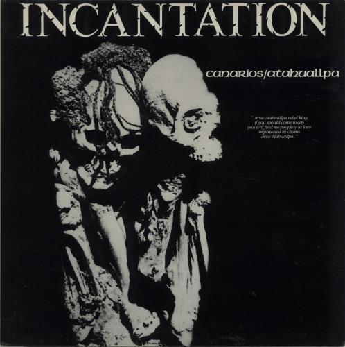 """Incantation Canarios / Atahuallpa 12"""" vinyl single (12 inch record / Maxi-single) UK ICA12CA664839"""
