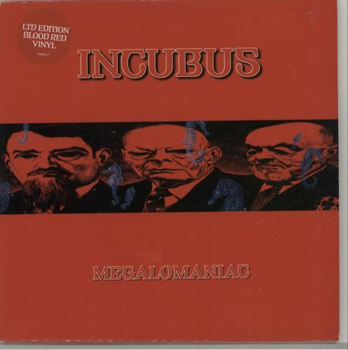 "Incubus Megalomaniac - Red Vinyl 7"" vinyl single (7 inch record) UK IUU07ME271112"