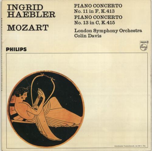 Ingrid Haebler Mozart: Piano Concerto No.11 in F / Piano Concerto No.13 in C vinyl LP album (LP record) UK QN4LPMO700078