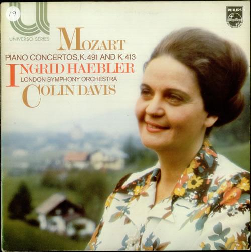 Ingrid Haebler Mozart: Piano Concertos, K491 and K.413 vinyl LP album (LP record) UK QN4LPMO539721