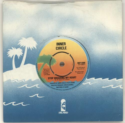 "Inner Circle Stop Breaking My Heart 7"" vinyl single (7 inch record) UK IC207ST697087"