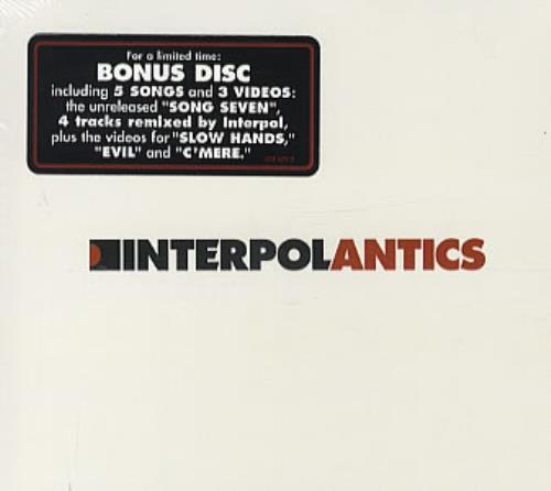 Interpol Antics - Sealed 2 CD album set (Double CD) US ITP2CAN335461