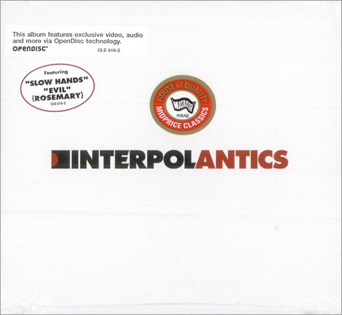 Interpol Antics - Sealed CD album (CDLP) US ITPCDAN508775