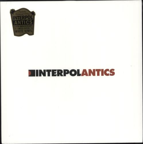 Interpol Antics - White Vinyl - Sealed vinyl LP album (LP record) US ITPLPAN736188