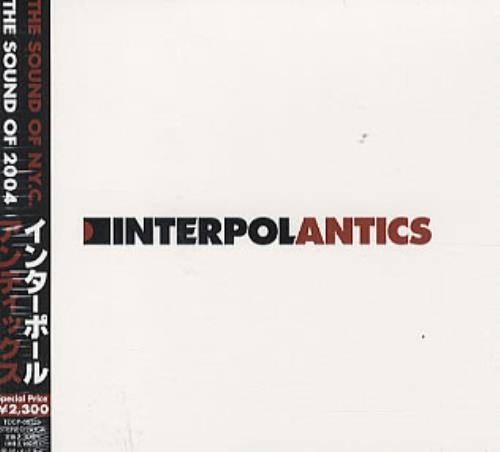Interpol Antics CD album (CDLP) Japanese ITPCDAN312389