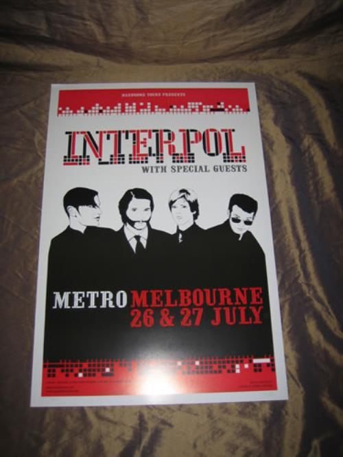 Interpol Australian Tour Poster poster Australian ITPPOAU345409