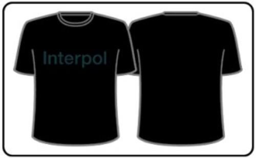 Interpol Logo T-Shirt - XL t-shirt UK ITPTSLO342972