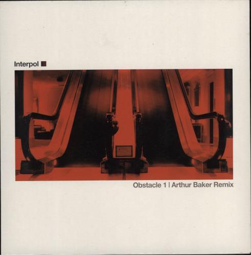 "Interpol Obstacle 1 - Arthur Baker Remix 7"" vinyl single (7 inch record) UK ITP07OB258236"