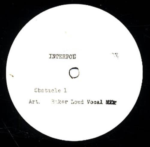 "Interpol Obstacle 1 12"" vinyl single (12 inch record / Maxi-single) US ITP12OB275173"
