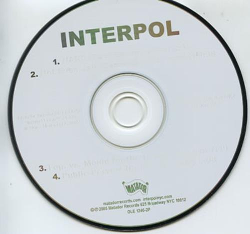 "Interpol Remix CD single (CD5 / 5"") US ITPC5RE358053"