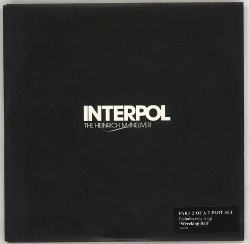 "Interpol The Heinrich Maneuver 7"" vinyl single (7 inch record) UK ITP07TH406152"