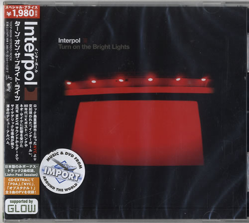 Interpol Turn On The Bright Lights CD album (CDLP) Japanese ITPCDTU615746